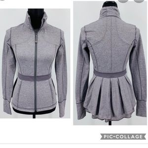 🔥Lululemon Peplum Riding Jacket-Heathered Magnum